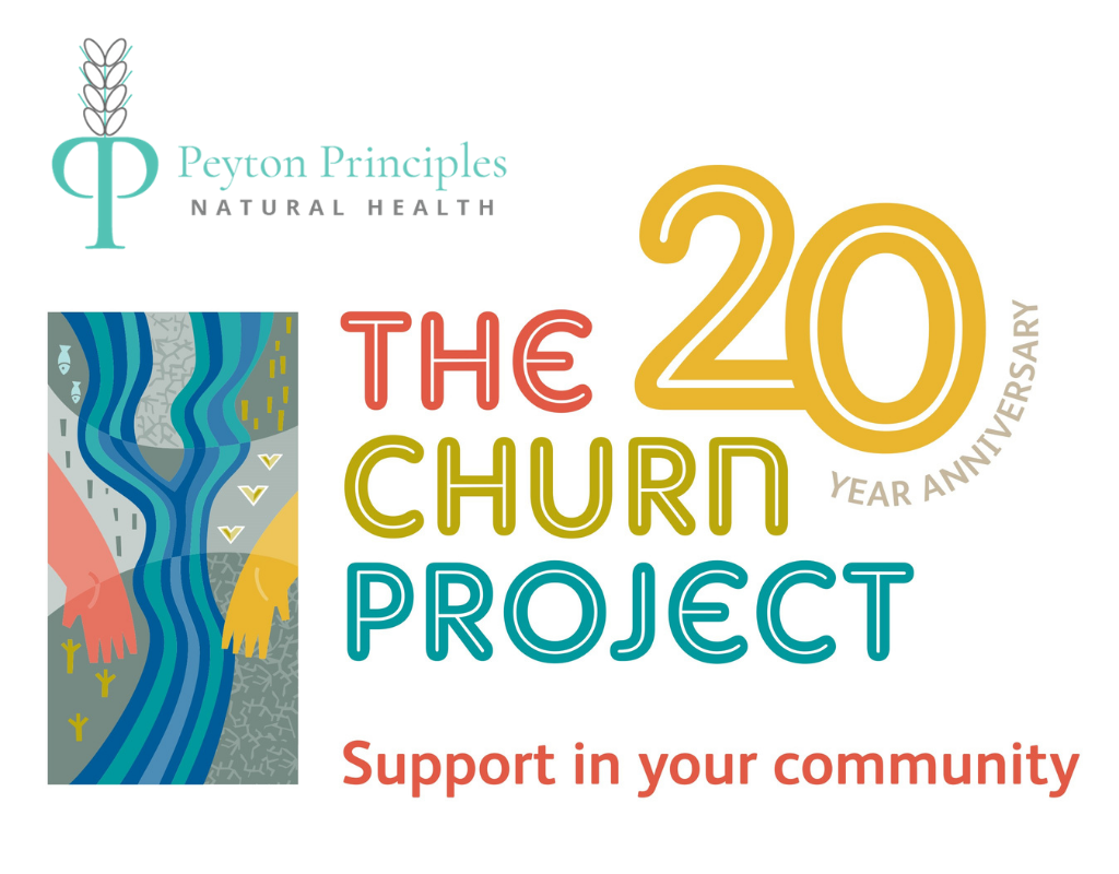Caroline Peyton supporting the Churn Project
